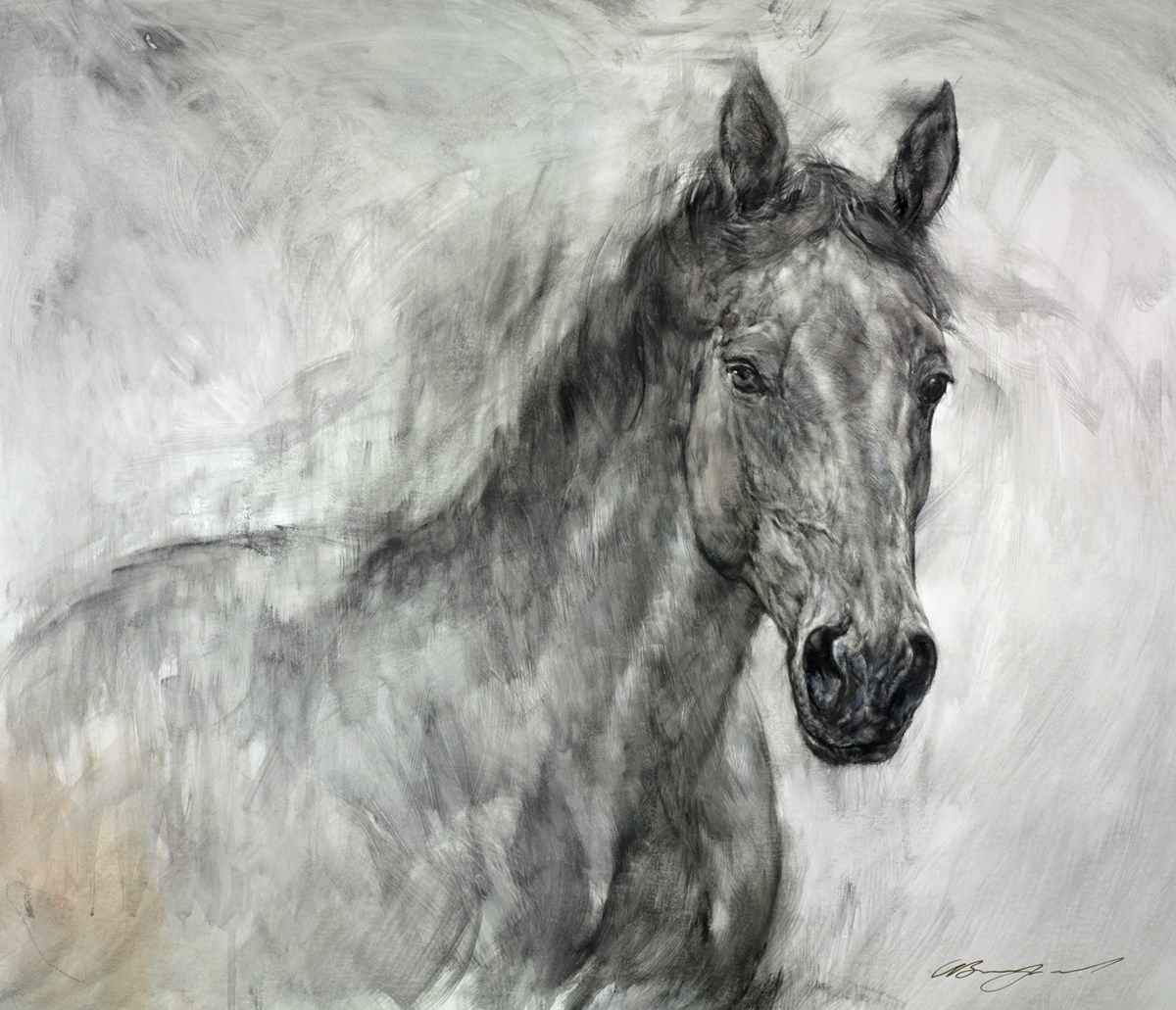 Equine Portrait by gary benfield -  sized 26x23 inches. Available from Whitewall Galleries